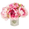 Creative Displays, Inc. Pink & White Peony in Acrylic Water Vase