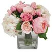 Creative Displays, Inc. Spring Additions Pink & White Assorted Rose in Water Glass Vessel