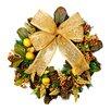 Creative Displays, Inc. Lemon and Magnolia Leaf Wreath with Burlap Bow