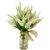 Creative Displays, Inc. Spring Additions White Heather in Acrylic Water Mason Jar