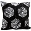 Michael Amini Metallic Synthetic Throw Pillow
