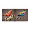 Artistic Bliss Birds 2 Piece Painting Print Set