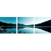 Artistic Bliss Tranquility Lake 3 Piece Framed Photographic Print Set