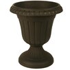 Plastic Urn Planter - Color: Black - Size: 12 inch High x 10 inch Wide x 12 inch Deep - Arcadia Garden Products Planters