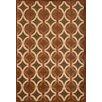 Abacasa Napa Giles Chocolate/Ivory Geometric Area Rug