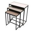 Foreign Affairs Home Decor Graywolf 3 Piece Nesting Tables