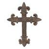 CKK Home Décor, LP Accents of Faith Fleur Cast Cross Wall Decor