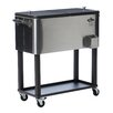 Trinity 80 Qt. Stainless Steel Rolling Cooler with Cover