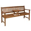 Pacific Lifestyle Florida 2 Seater Acacia Wooden Bench