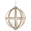 Pacific Lifestyle Harvey Wooden 3 Light Candle Chandelier