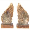 Pacific Lifestyle Polyresin Angel Wings Book Ends Bookends Sculpture