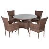 Pacific Lifestyle Auckland 4 Seater Dining Set