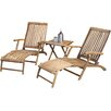 Pacific Lifestyle Paleros 3 Piece Sun Lounger Set