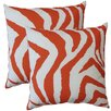 Fox Hill Trading Premiere Home Zebra Indoor/Outdoor Throw Pillow (Set of 2)
