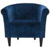 Fox Hill Trading Savannah Club Chair with Black Finish