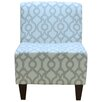 Fox Hill Trading Penelope Armless Lyon French Gray Slipper Chair