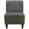 Fox Hill Trading Penelope Armless Amanda Green Slipper Chair