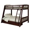 Hillsdale Furniture Rockdale Twin over Full Bunk Bed with Storage