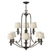 Hinkley Dunhill 9 Light Chandelier
