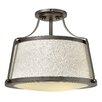 Hinkley Charlotte 3 Light Semi-Flush Mount