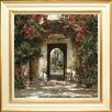Spires Art Flowered Doorway II by Cyrus Afsary Framed Art Print