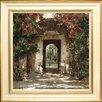 """Spires Art Gerahmtes Poster """"Flowered Doorway II"""" von Cyrus Afsary, Kunstdruck"""