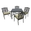 Outdoor Innovation Carmen 5 Piece Dining Set with Cushions