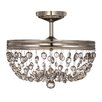 Feiss Malia 3 Light Semi-Flush Ceiling Light