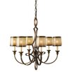 Feiss Justine 6 Light Candle Chandelier