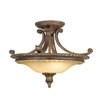 Feiss Stirling Castle 2 Light Semi-Flush Ceiling Light