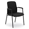 Basyx by HON VL518 Mesh Back Stacking Chair with Arms