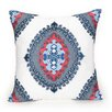 Coastline Ikat Decorative Cotton Throw Pillow