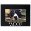 """Malden 4"""" x 6"""" Woof Rustic Nails Picture Frame"""