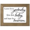 Malden Learn from Yesterday Float Block Wall Decor
