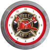 "Neonetics 15"" Fire Department Neon Clock"