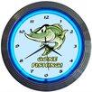 """Neonetics 15"""" Gone Fishing Neon Clock"""