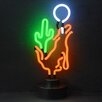 Neonetics Business Signs Coyote Moon Cactus Neon Sign