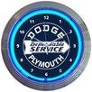 "Neonetics 15"" Dodge Dependable Service Neon Wall Clock"