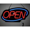 Neonetics Open Flashing Oval LED Sign