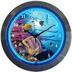 """Neonetics Bar and Game Room 15"""" Aquarium Wall Clock"""