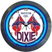 """Neonetics Cars and Motorcycles 15"""" Dixie Motor Oil Wall Clock"""