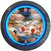 "Neonetics Bar and Game Room 15"" Pinball Wall Clock"