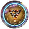 """Neonetics Bar and Game Room 15"""" Billiards Space Balls Wall Clock"""