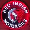 Neonetics Red Indian Motor Oils Neon Sign