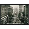 Green Leaf Art Looking Up Broadway Framed Painting Print