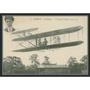 Green Leaf Art Wright Brothers Biplane I Framed Painting Print