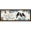 Green Leaf Art Family is Everything Framed Painting Print in Brown/Blue