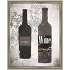 Green Leaf Art Wines II Framed Painting Print