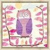Green Leaf Art Owl Framed Painting Print