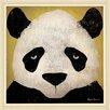 Green Leaf Art Panda Framed Painting Print